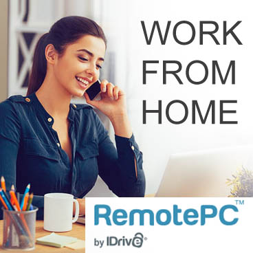 Work from home - idrive remote pc